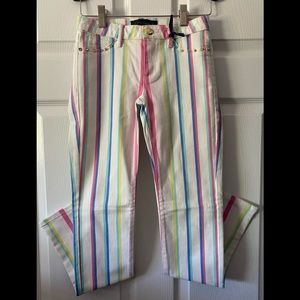 NWT Juicy Couture Girls Desk Chair Stripe Skinny